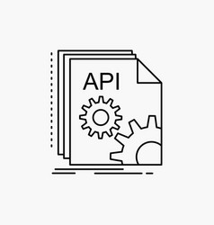 api app coding developer software line icon vector image