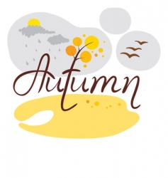 autumn came vector image