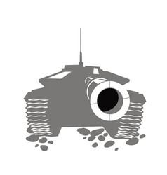 Big gun cartoon image modern main battle tank vector