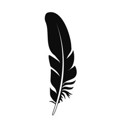 bird feather icon simple style vector image