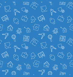 blue real estate seamless pattern vector image