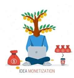 BUSINESS IDEA MONETIZATION vector