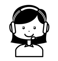 Call center employee isolated icon design vector