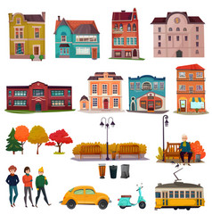 City environment set vector