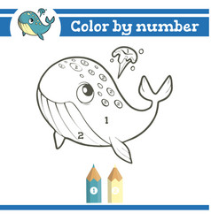 Color numbers coloring page for preschool vector