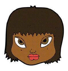 Comic cartoon annoyed face vector