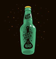 Craft beer label concept with bottle opener vector