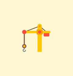 crane tower icon flat element vector image