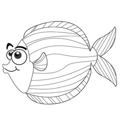 Drafting animal for cute fish vector