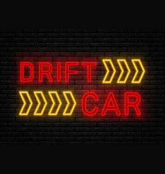 drift show racing vector image