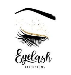 Eyelash extensions logo vector