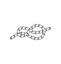 Figure eight rope knot isolated icon vector