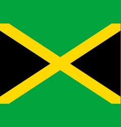 flag jamaica flat icon vector image
