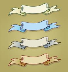 four old banners vector image
