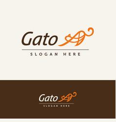 gato logo vector image