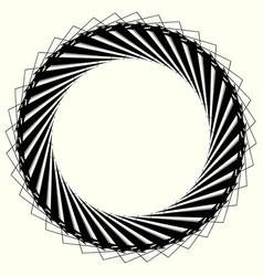 geometric circle element circle motif random edgy vector image