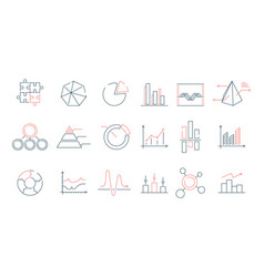 Graphs statistics icon financial business charts vector