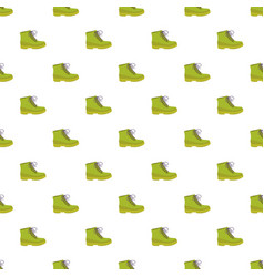 green leather shoe pattern seamless vector image