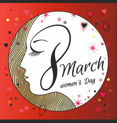 greeting card with 8 march womens day 13 vector image