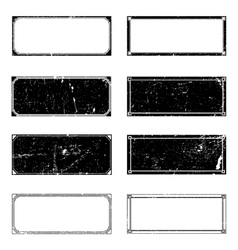 Grunge Rectangle Frames vector image