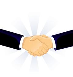 Handshake two men vector