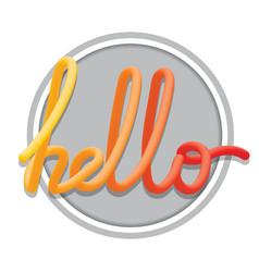 hello sign calligraphic hand written hello script vector image