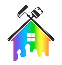 house painting tool symbol vector image