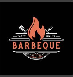 Intage retro rustic bbq grill barbecue barbecue vector