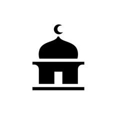 Islamic masjid silhouette vector