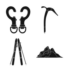 Isolated object of mountaineering and peak logo vector