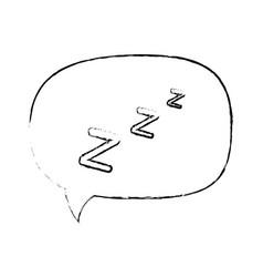 isolated sleep time speech bubble vector image