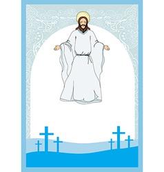 Jesus Christ bless vector