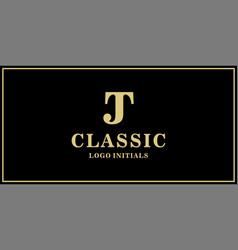 Jt monogram classic logo design inspiration vector