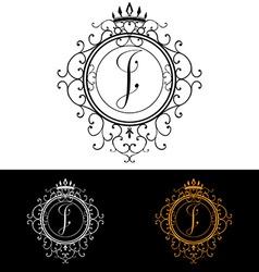 Letter I Luxury Logo template flourishes vector image