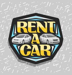 Logo for rent a car vector