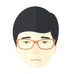 Lonely asian guy vector