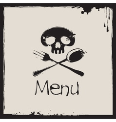 menu with a human skull vector image