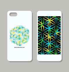 mobile phone design flower of life vector image