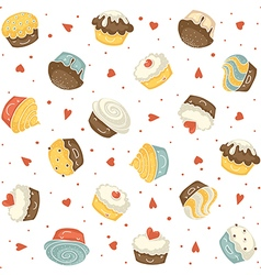 Muffins seamless vector
