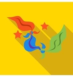 Multicolored handkerchiefs magician icon vector