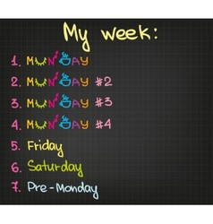 My week vector image