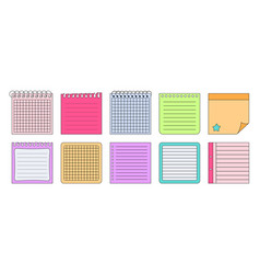 paper stickers notes elements planning set vector image
