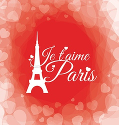 Paris design vector image