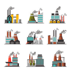 power plants collection industrial chemical or vector image