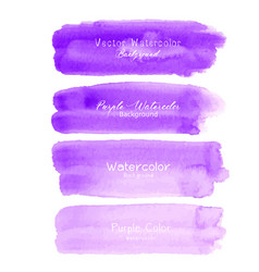 Purple brush stroke watercolor vector