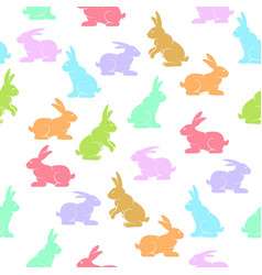 rabbits background color vector image
