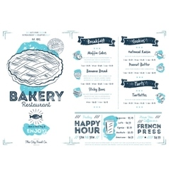Restaurant cafe bakery menu template vector image