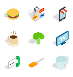 retail icons set isometric style vector image