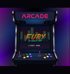 Retro arcade machine vector