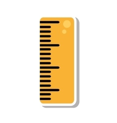 Rule school supply isolated icon vector